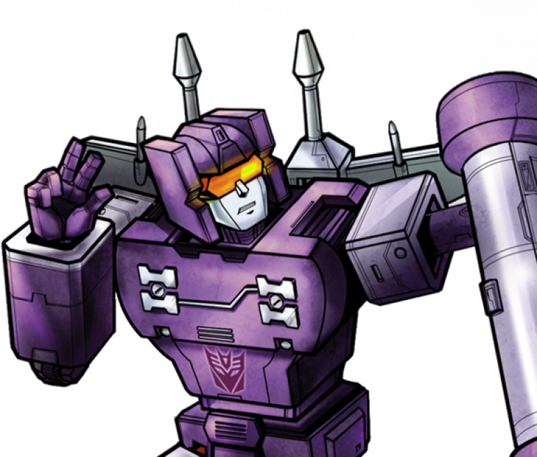 Rumble, from the Transformers cartoon