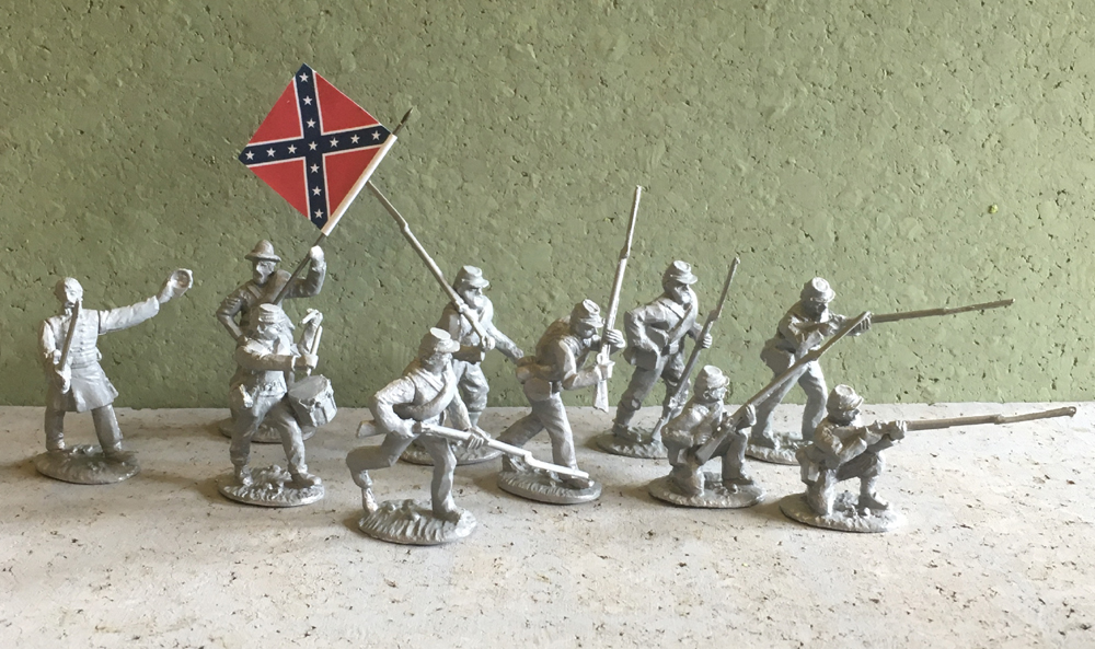 Confederate Infantry - Spencer Smith Miniatures