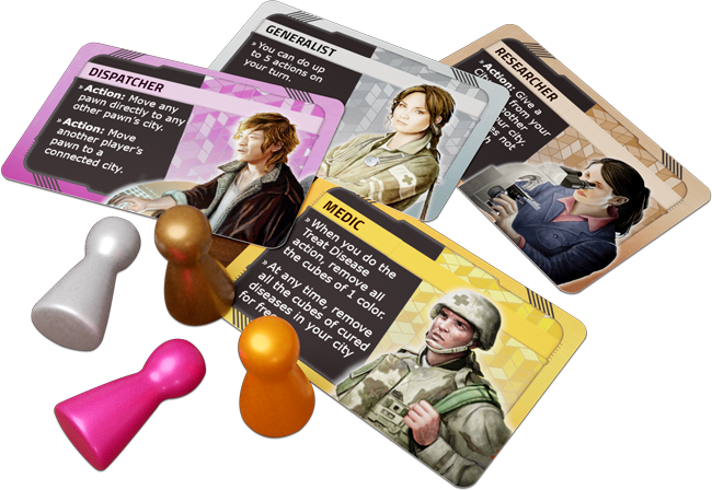 Pandemic Hot Zone America Characters - Z-Man Games