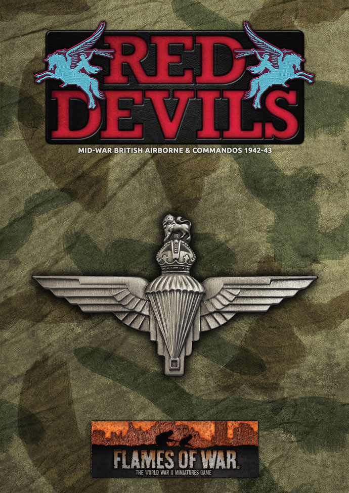 Red Devils Book Cover - Flames Of War