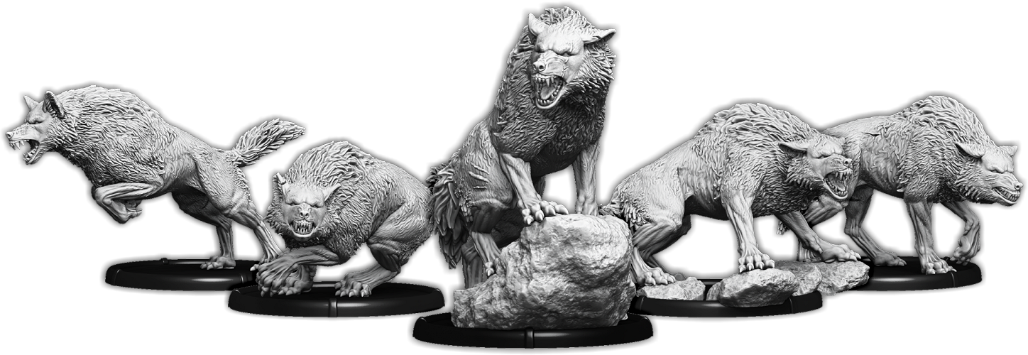 New Hunting Wolves A Sci Fi Terrors From Mierce Miniatures Ontabletop Home Of Beasts Of War