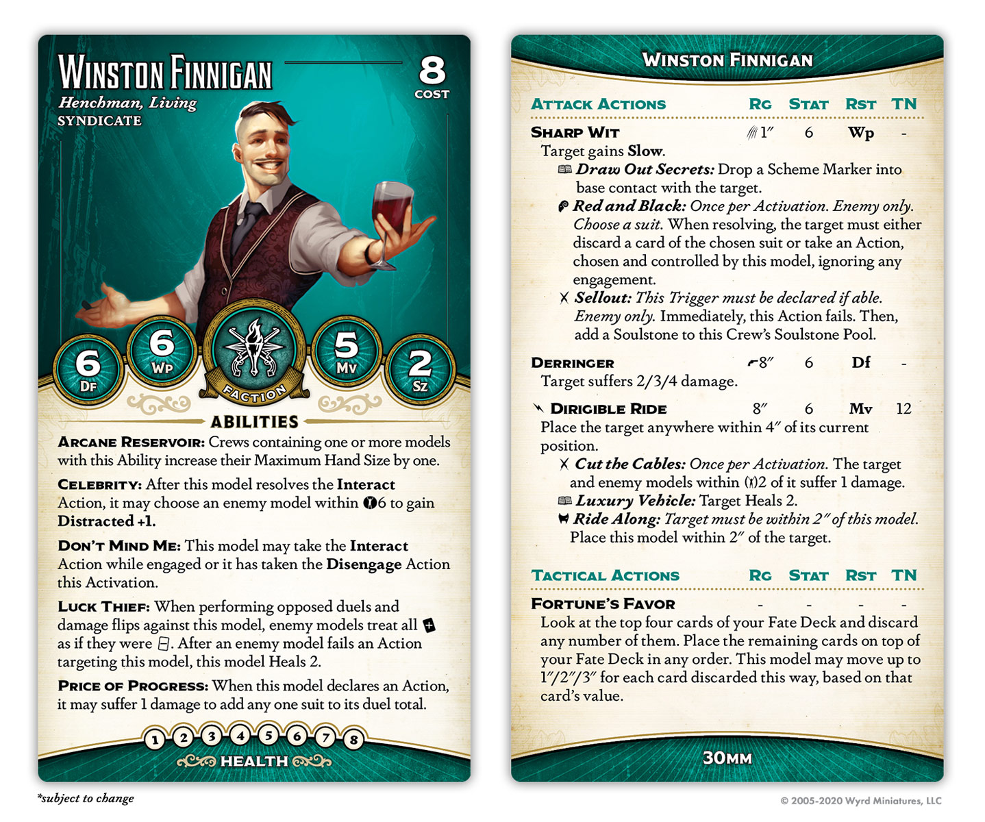 Winston Finnigan Card - Wyrd Games