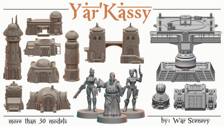 Yar'kassy - Sci-Fi Desert City and Stronghold