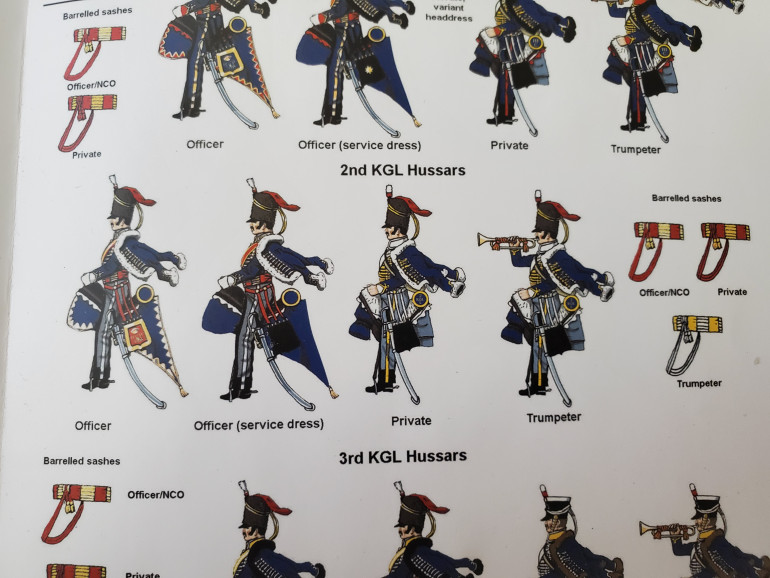 This is a close-up picture of the guide for the 2nd KGL Hussars...wish I'd seen this earlier...