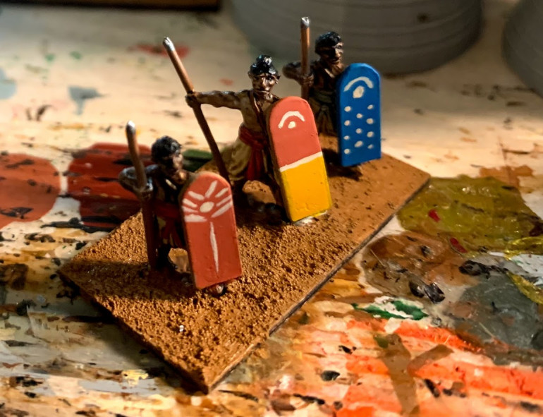 Some spear/javelin troops in the process of being based.