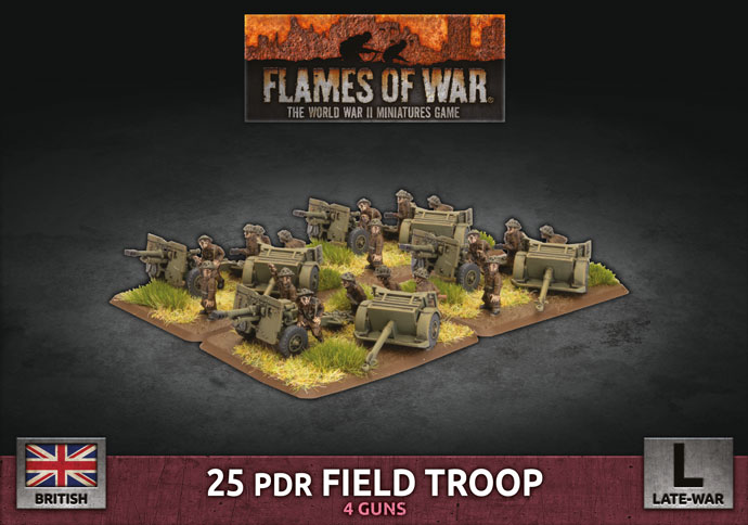25 pdr Field Troop - Flames Of War