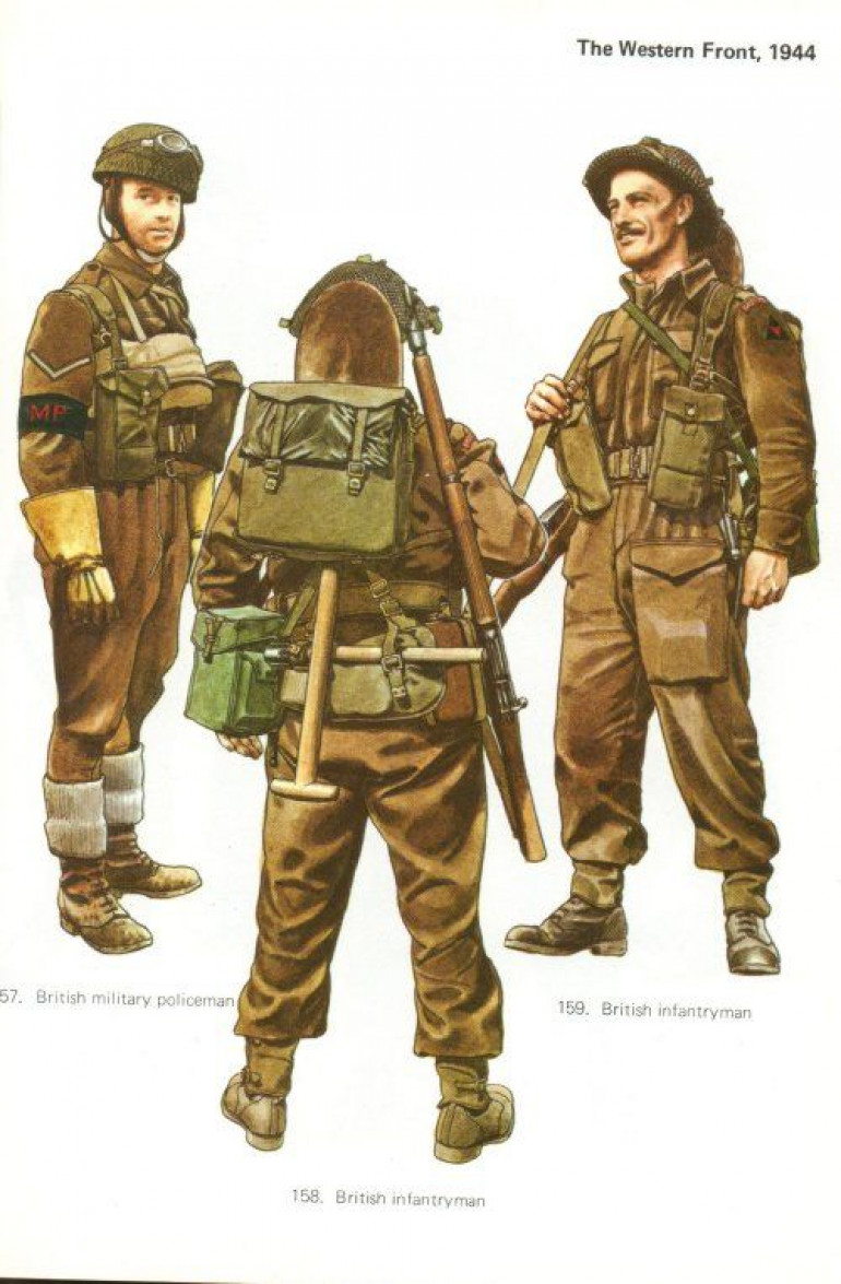 Again, I believe this is from an Osprey book (they are your friends for uniform images!) showcasing the colour I'm aiming for.