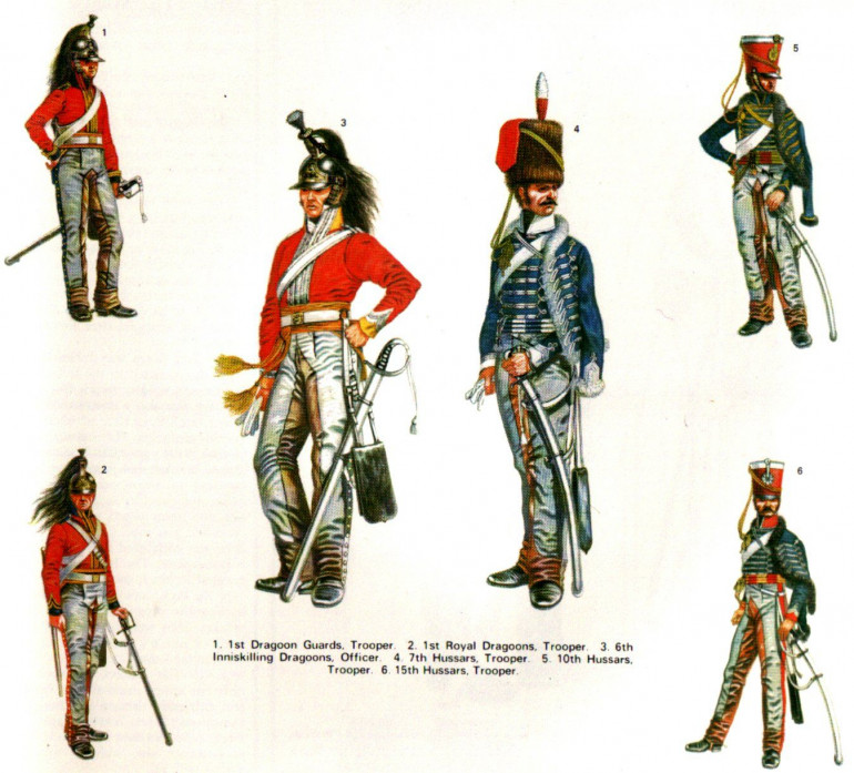 Note that these chaps are from all over the Cavalry regiments...not just Hussars. The red jacketed chaps are Dragoons or Heavy Cavalry!