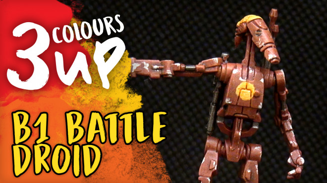 B1 Battle Droid Miniature Painting Tutorial | Star Wars: Legion