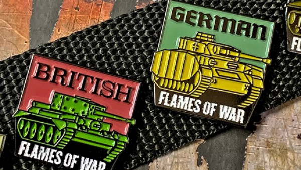 Limited Edition Flames Of War Pins Now Available