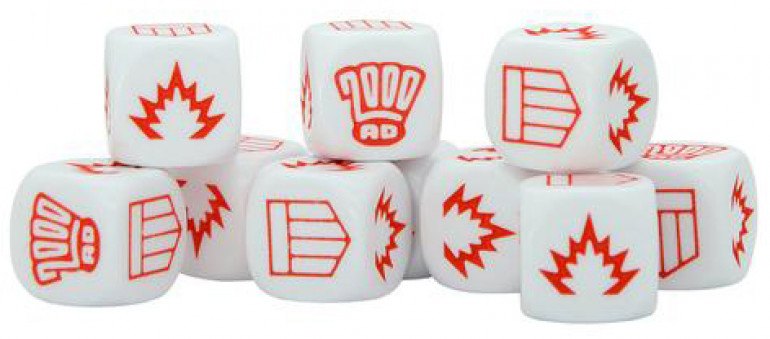 The tokens and dice from the Strontium Dog game are great so I decided to use them.