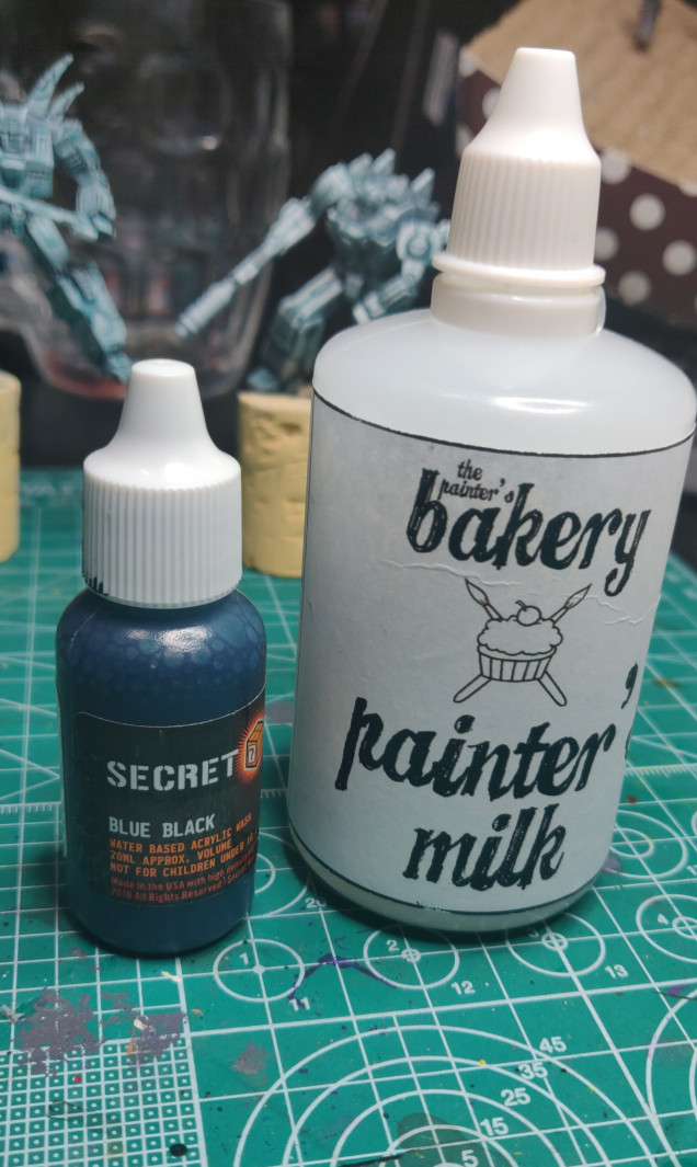 Secret Weapon washes, diluted with medium from The Painter's Bakery