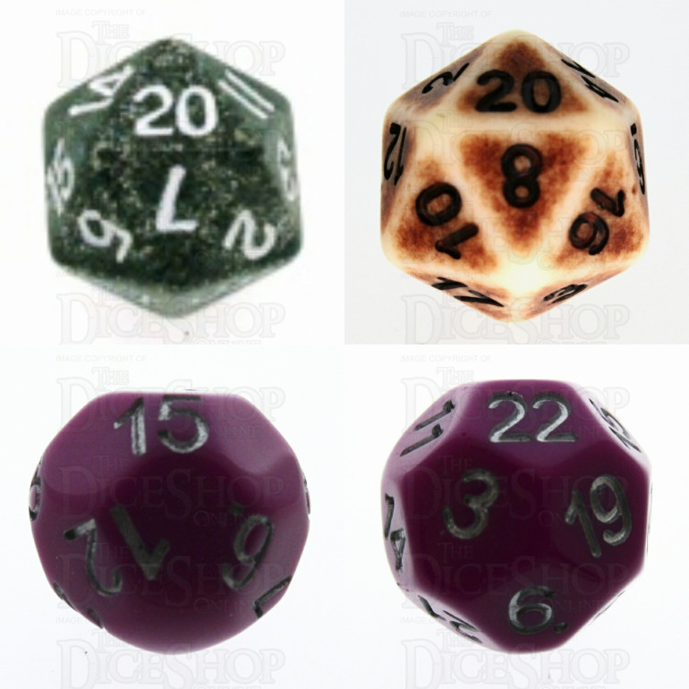 Dice Shop Online purchases for wound markers and combat dice.