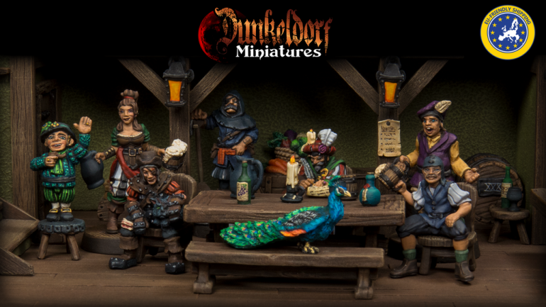 Dunkeldorf: The Prancing Peacock - RPG Tavern Miniatures