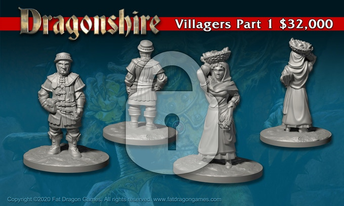 Dragonshire Villagers - Fat Dragon Games