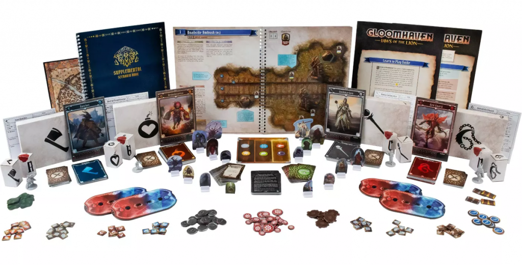Gloomhaven Jaws Of The Lion Components - Cephalofair Games