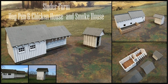 Slyder Farm Hog Pen Chicken House & Smoke House - Things From The Basement