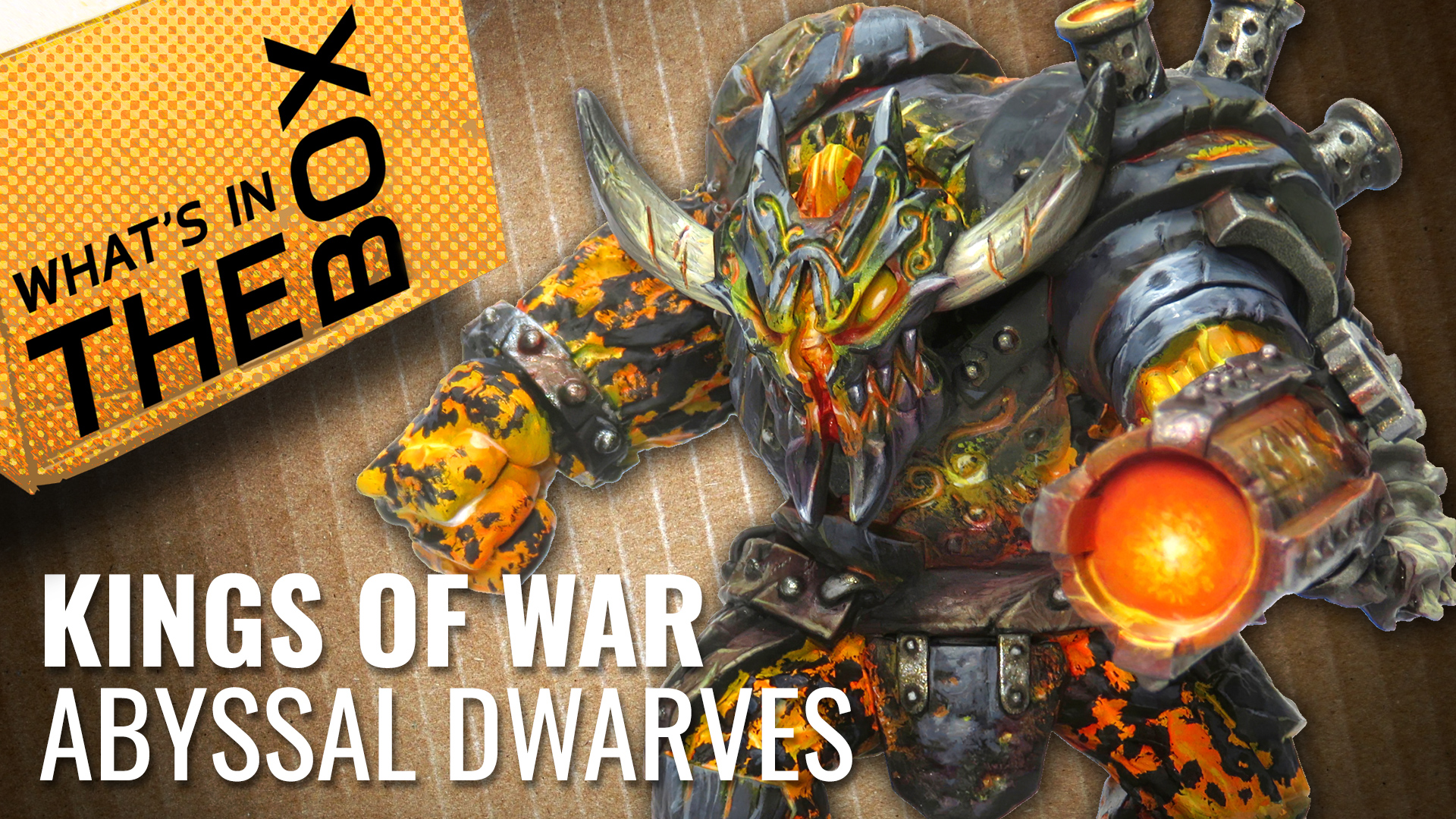 Unboxing: Kings of Vanguard - Abyssal Dwarf Warband Booster | Mantic Games