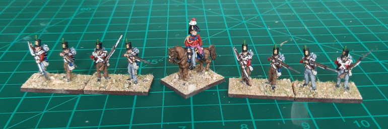 Officer and skirmishers