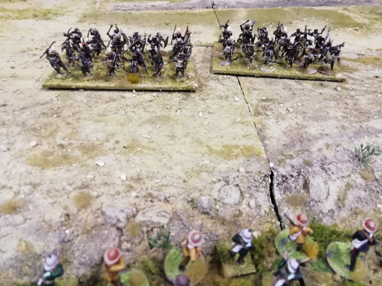 Durnfords men fire on the Umbonambi from the donga