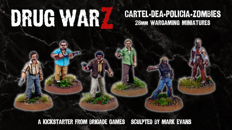 Drug WarZ - Cartel, DEA, Policia, Zombies - 28mm Miniatures