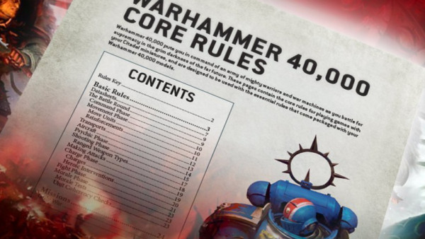 New Warhammer 40K Core Rules Available For Download