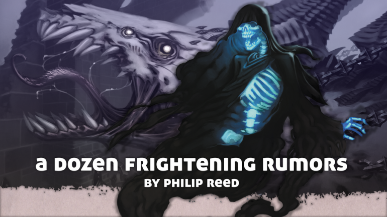 A Dozen Frightening Rumors, for use with Fantasy RPGs