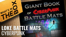 Unboxing: Giant Book Of Cyberpunk Battle Mats | Loke BattleMats