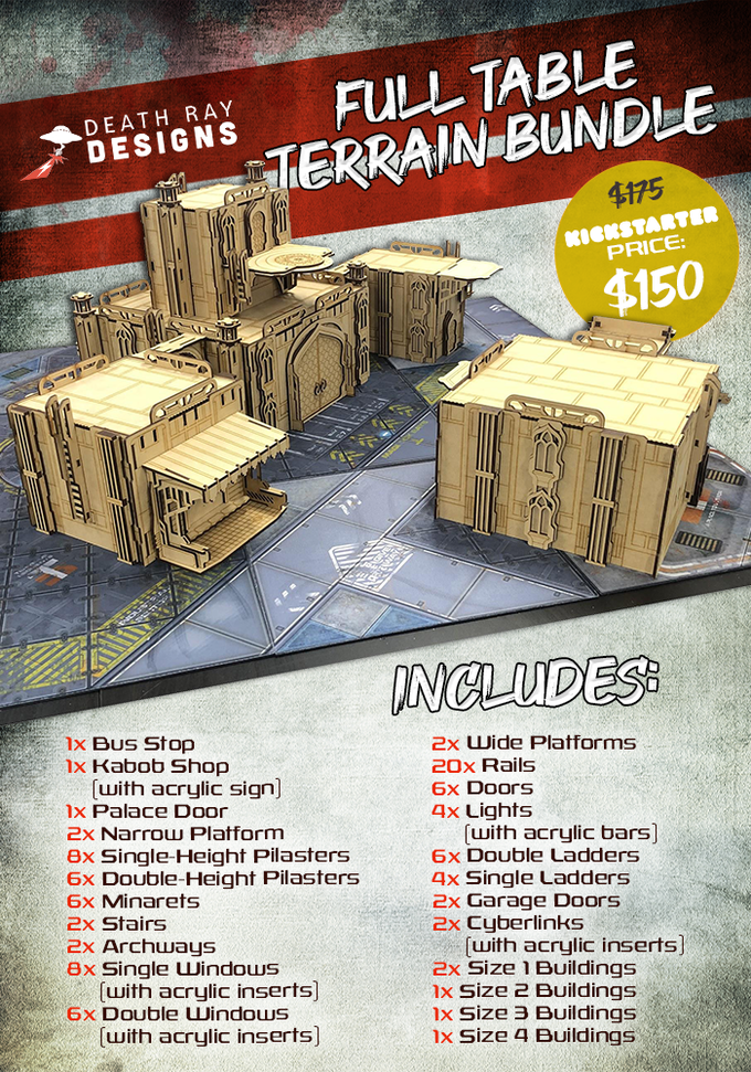 Gangs Of The Undercity Terrain Bundle - Fragging Unicorns Games.png