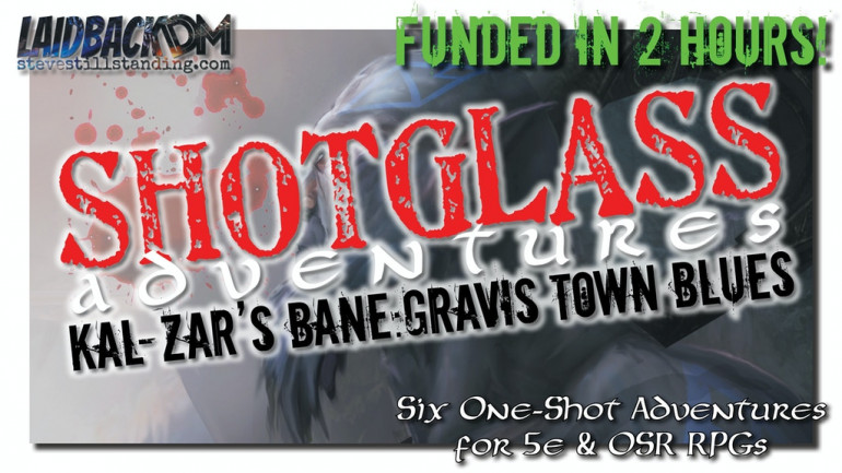 SHOTGLASS ADVENTURES: GRAVIS TOWN BLUES for 5e & OSR RPGs