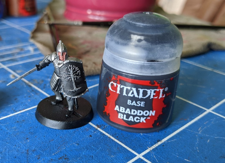 4. Touching up the black (mainly on the shields)