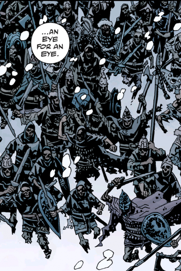 The source material, an undying (but decaying) horde of skeletons with withered skin on the bones.  Delightful! From the Darkness Calls storyline.