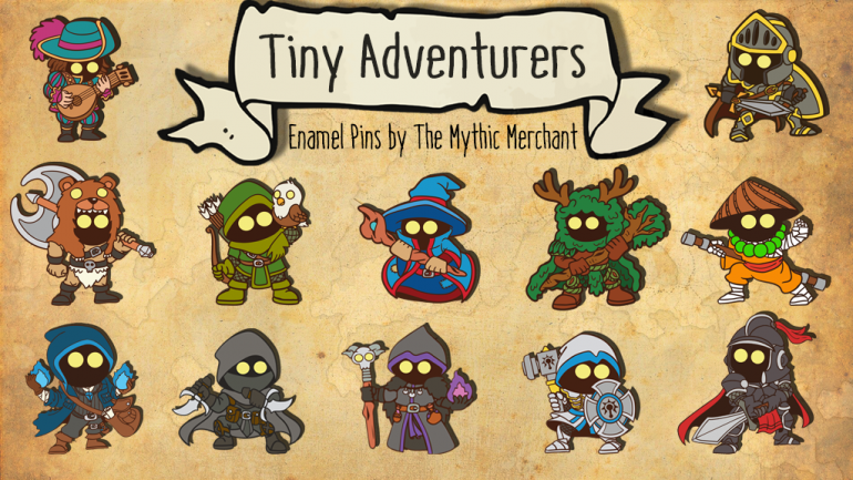 Tiny Adventurers - Enamel Pins