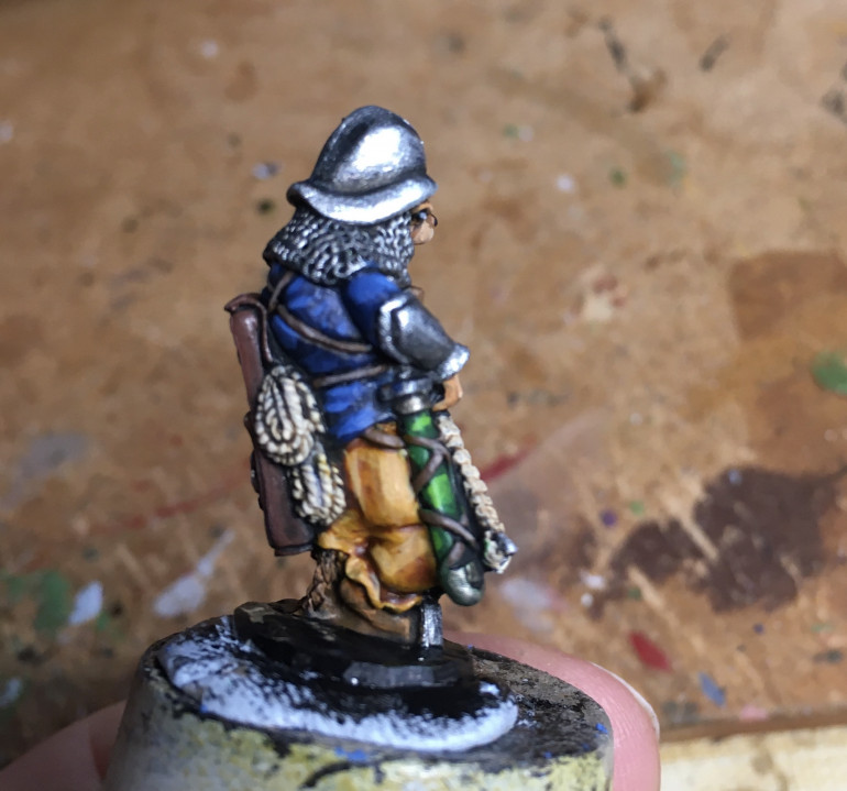 Like Rosey, Wally will get a once over in good light tomorrow, then a varnish to protect him while I wait to base them.