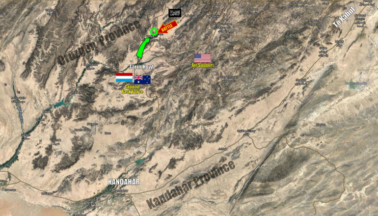A section of the Orūzgān Province, south-central Afghanistan, 2006.  Here, a force of Dutch and Australian foces tangled with Taliban elements in the Chora Valley, north of Kadahar.  The Australian part of this campaign was Operation Perth, which we'll be taking a small look at in today's stream.