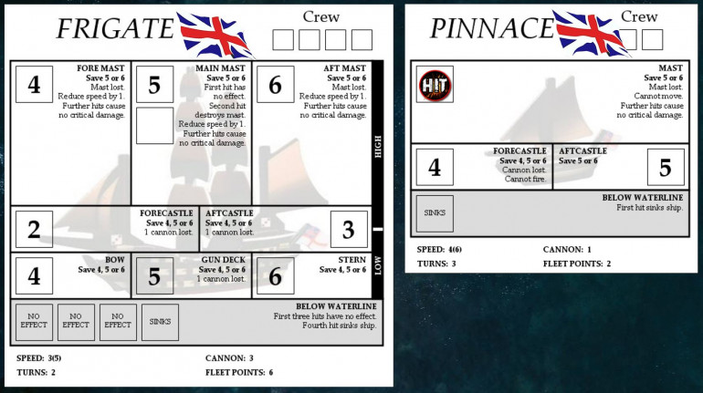 Here are my frigate and pinnace. WIth that single