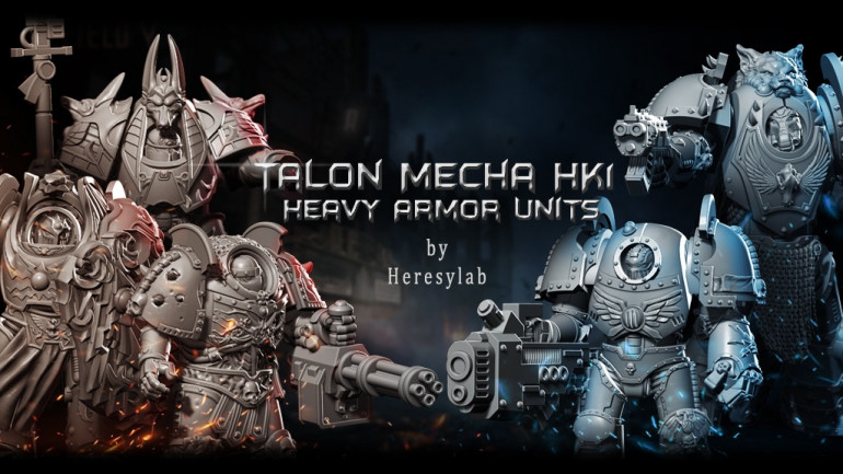 Talon Mecha HK1 Heavy Armor Paladin resin and STL Heresylab