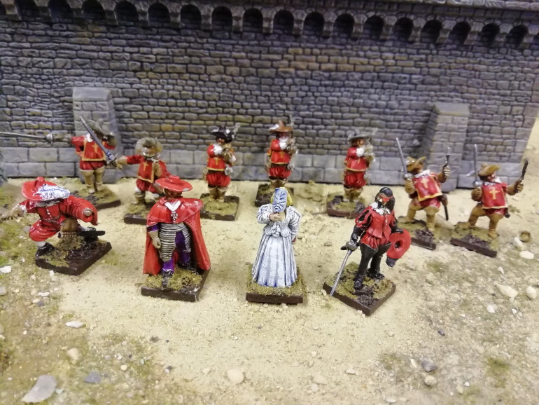 I have previously played Ospreys EnGarde rules with musketeers again using the opportunity to recreate films from my youth. It worked for the musketeers so should work for the merry men. So instead of the cardinals guard I'll need some Norman's.