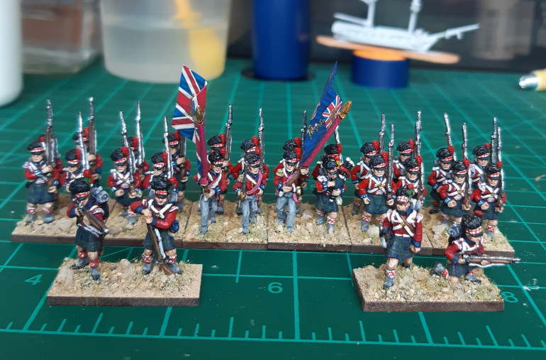 Battalion plus previously completed skirmisher bases.