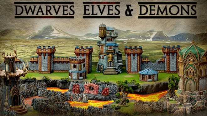 Printable sceneries Gloomwood Eyrie from print to paint and my verdict