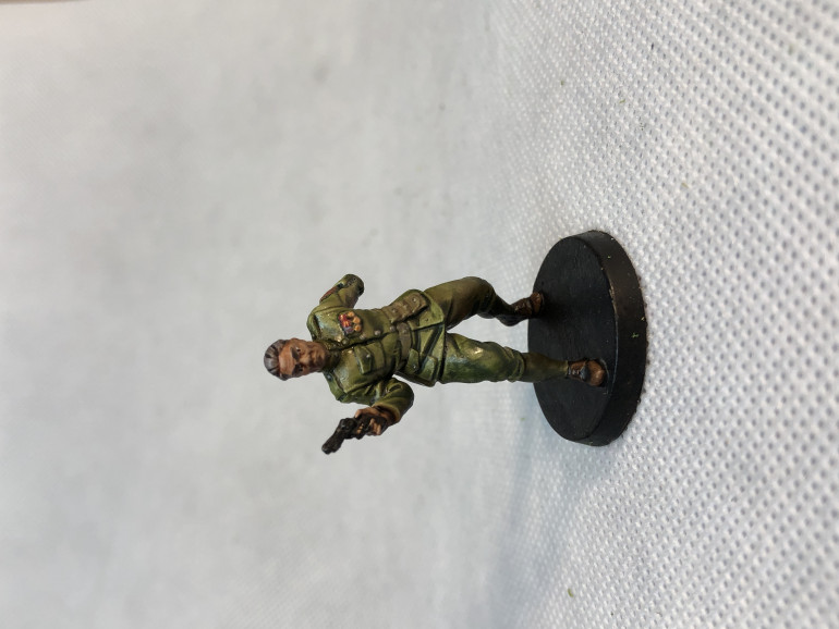 Sergeant Ian Welles is very straightforward to paint and provides a good deal of backstory questions that may be welcome for a Call of Cthulhu RPG character background.