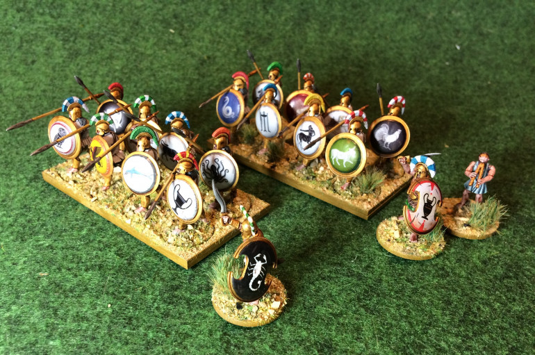 The Greeks that Pyrrhus has come to help. Can be used in my army but I plan to do a few more units and use them as a Magna Graecia force