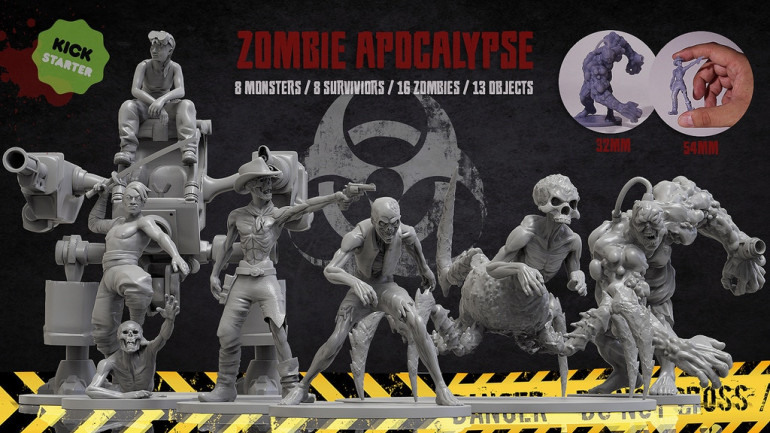 ZOMBIE APOCALYPSE - 3D Printable Miniatures – STL files
