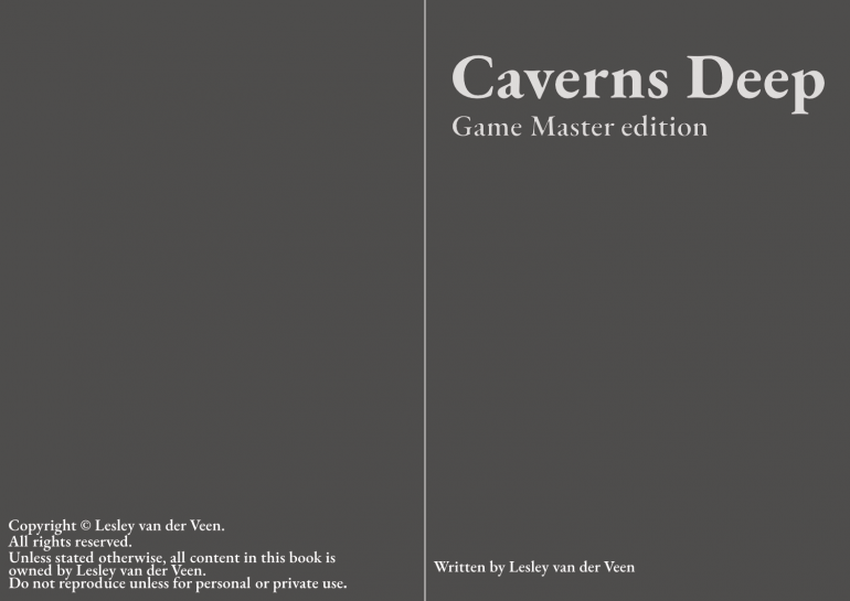 Caverns deep, update on the fonts