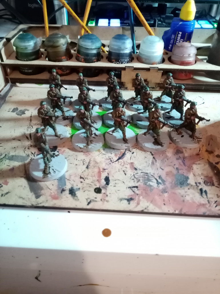 Now that I have finished the soldiers I will be moving onto the dogs tomorrow