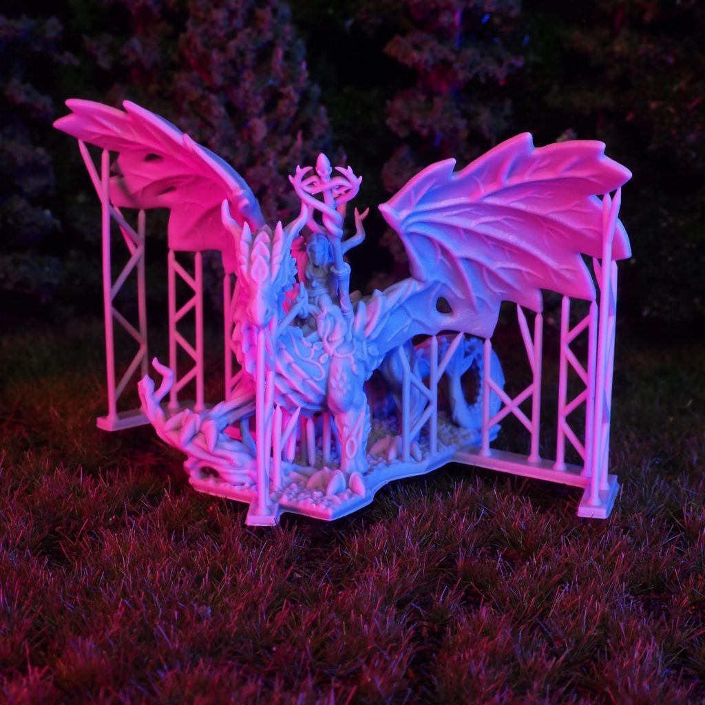 Wood Elf Forest Dragon With Sorcerer - Printing In Detail.jpg