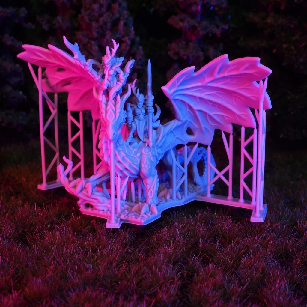 Wood Elf Forest Dragon With Warrior Sisters - Printing In Detail.jpg