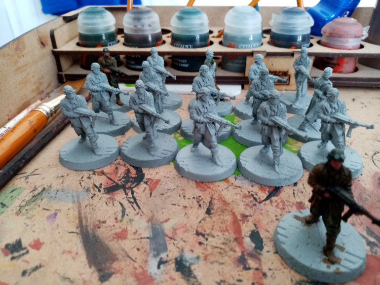 I had already started with my soldiers before the project began