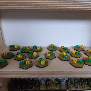 Markers done and army's on display.