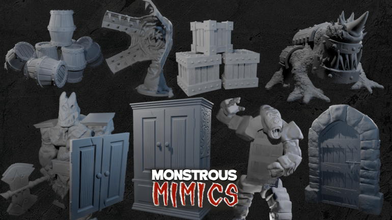 Monstrous Mimics: 3D Printable Miniatures